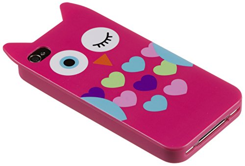 Trendz Character Clip-On Case Cover Schutzhülle für iPhone 4 / 4S - Eule Pink Eule Pink
