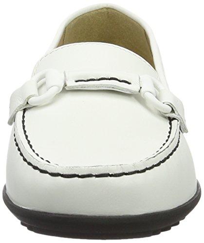 Geox D Elidia B, Mocassins Femme Blanc (Whitec1000)