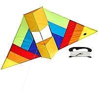 EMMAKITES Herr. COQ Conyne Delta Kite 1,5 Meter RTF Kit mit Drachenschnur - für Kinder und Erwachsene