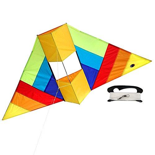 Conyne Delta Kite 1,5 Meter RTF Kit mit Drachenschnur - für Kinder und Erwachsene (Halloween-spiele Für Draußen)