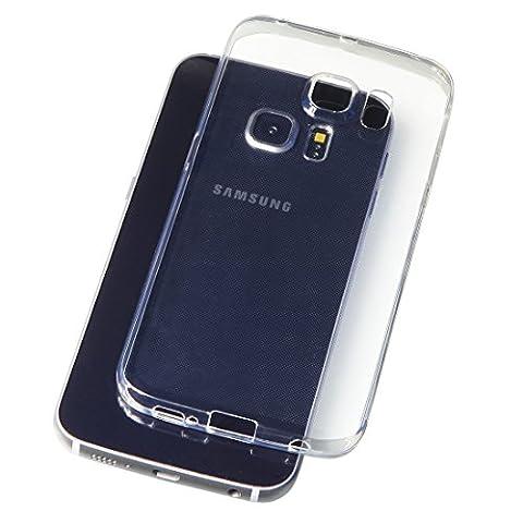 B&L Samsung Galaxy S6 Edge Plus 5,7 Zoll Schutz-Hülle Silikon TPU transparent ultra-slim Case Cover ultra-thin durchsichtig extra Kameraschutz Linsenschutz