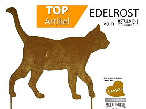 Metallmichl Edelrost Rost Katze gehend