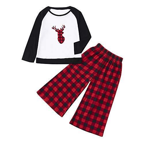 QinMM Familie Weihnachtskostüm, Mama & Ich & Daddy Plaid Bluse Hose Familie Pyjamas Nachtwäsche Passende 2 Stück Outfits Set (Familie Pyjamas Plaid)