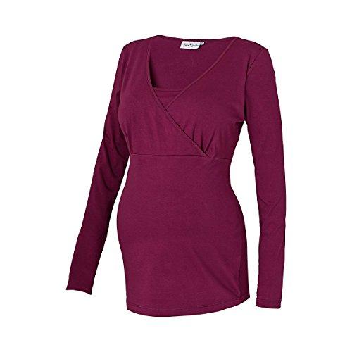 2HEARTS Le T-shirt de grossesse et d'allaitement T-shirt de grossesse T-shirt de grossesse Grape Wine