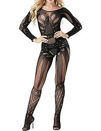 VENMO Ropa Lenceria erotica de mujer,VENMO atractivo mujeres malla babydoll lencería mini vestido ropa
