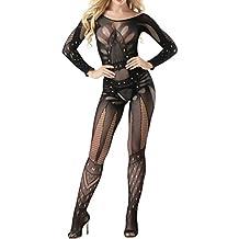 Lenceria erotica de mujer,VENMO atractivo mujeres malla babydoll lencería mini vestido ropa interior íntima pijamas