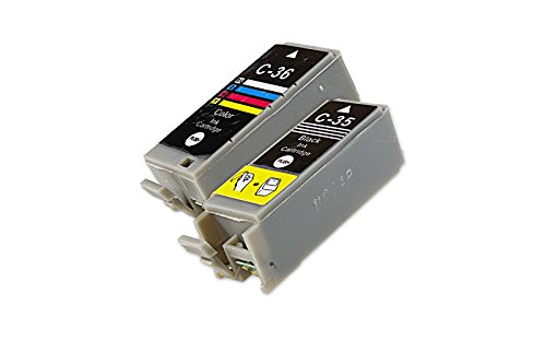Preisvergleich Produktbild Inkadoo® Tinte passend für Canon Pixma IP 100 ersetzt Canon PGI-35 1509B001 & 1511B001 - 2x Premium Drucker-Patrone Kompatibel - Schwarz, Cyan, Magenta, Gelb - 9,50 ml & 12,50 ml