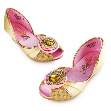 Authentic Disney Store's , Beauty and the Beast - Disney Princess Belle Shoes for Girls (Autentica Degli Accessori Del Costume Disney)