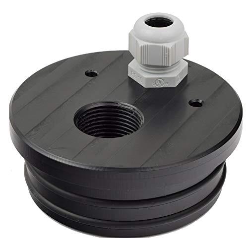 Agora-Tec® Brunnendeckel für 4 Zoll DN 100 Brunnenrohr mit 1 Zoll (30,3mm) IG Innengewinde