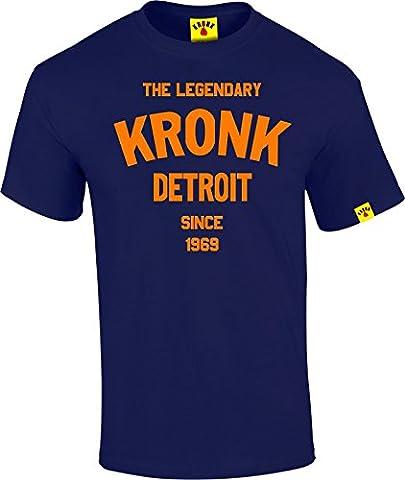 La légendaire kronk Detroit depuis '69pour homme en coton à manches courtes pour femme Coupe normale - bleu -