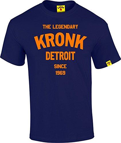 La leggendaria Kronk Detroit dal '69A Maniche Corte da Uomo T Shirt Regular Fit cotone Navy XX-Large