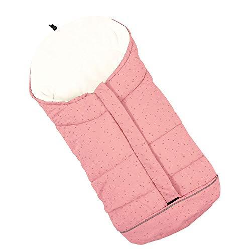 FullLove Baby Fußsack für Kinderwagen Winter Buggy Sportwagen mit Anti-Rutschschutz Winterfußsack Autositz Schlafsack (Pink)