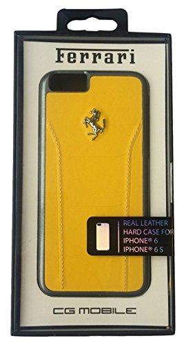 Ferrari FESEGHCP6YE Debossed Leder Harte 488 Schutzhülle mit Gold Logo für Apple iPhone 6/6S 11,9 cm (4,7 Zoll) gelb
