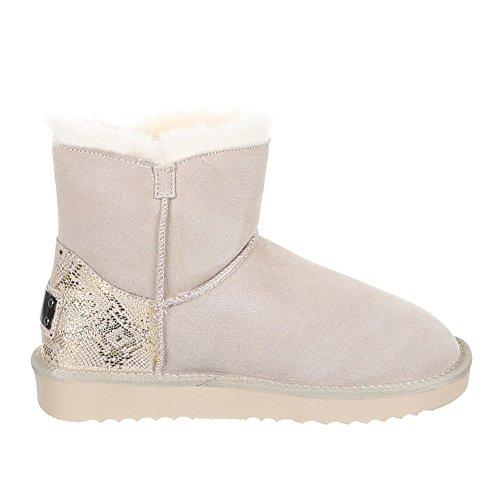 Damen Schuhe, 5803, BOOTS Beige 1