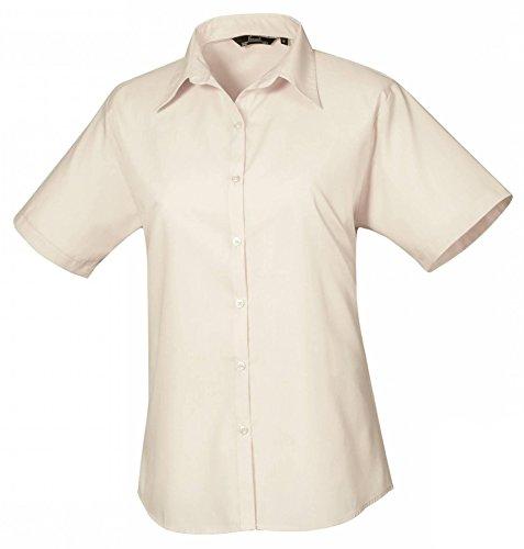 Ladies Poplin Blouse Short Sleeve (Damenbluse/Kurzarm) Natural
