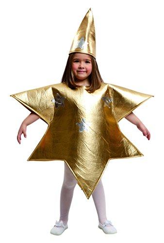 Imagen de my other me  disfraz de estrella para niña, 3 4 años, color dorado viving costumes 204391