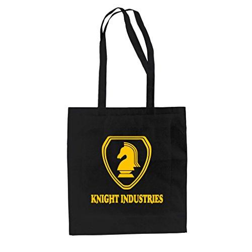 baumwolltasche-jutebeutel-knight-industries-schwarz-gelb