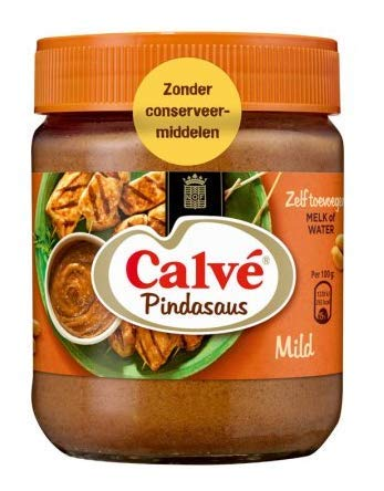 Calvé Satesaus - Erdnußsoße - 350g - Packung mit 3 Stück