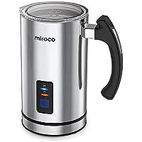 Miroco Milchaufschäumer 240ml 500W Elektrischer Flüssigkeitsaufheizer Milchschäumer mit Funktionen für Heiße und kalte Milch Geräuschloser Betrieb, Antihaftbeschichtung (Silber)