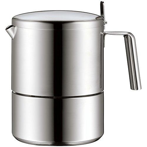 WMF Espresso-Maschine 6 Tassen Kult Coffee Cromargan Edelstahl rostfrei 18/10 mattiert induktionsgeeignet spülmaschinengeeignet