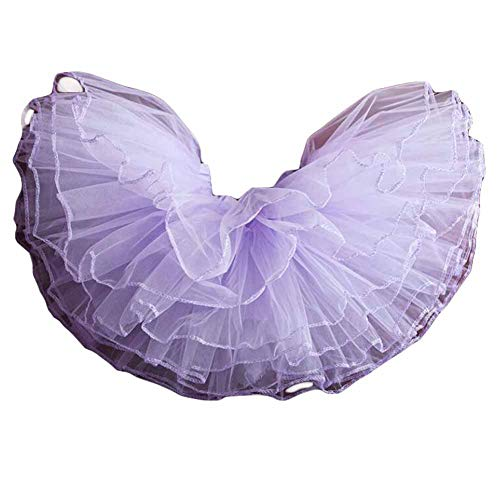 Panda Legends Kinder 4-Schichten Ballett Blase Tutu Rock für Mädchen Dance Party Kostüme Prom Dress up, Lila 22 ()