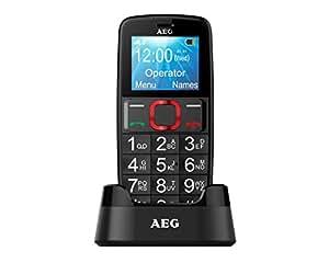 AEG Téléphone Portable Débloqué avec Grandes Touches - Voxtel M311 - Noir