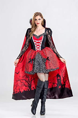 Ruanyi Halloween Bühne Kostüm Cosplay Lace Hexe Kostüm Vampire Masquerade Kleid für Frauen (Size : (Masquerade Vampir Kostüme)