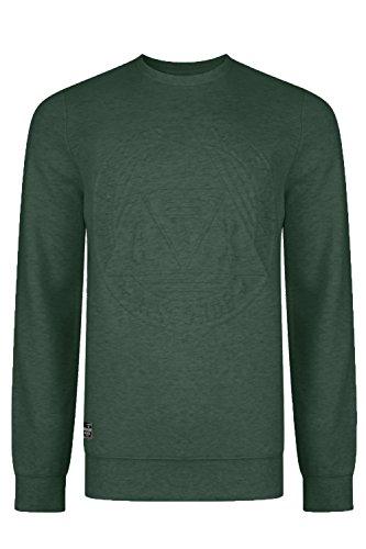 Threadbare Herren Jumper Sweatshirt Smaragdgrün