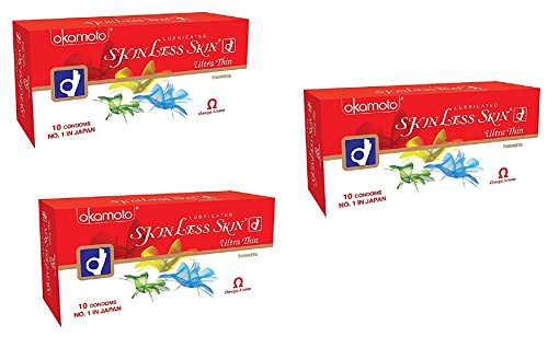 Okamoto Skinless Skin - Ultra Thin Condoms (3 x 30s)  available at amazon for Rs.300