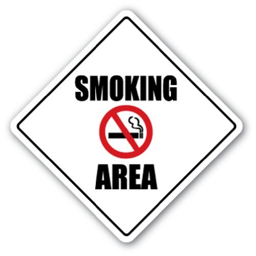 SignMission Rauchen Crossing Sign Zone Xing  -  30,5cm Hoch Smoker BBQ Allowed Herd