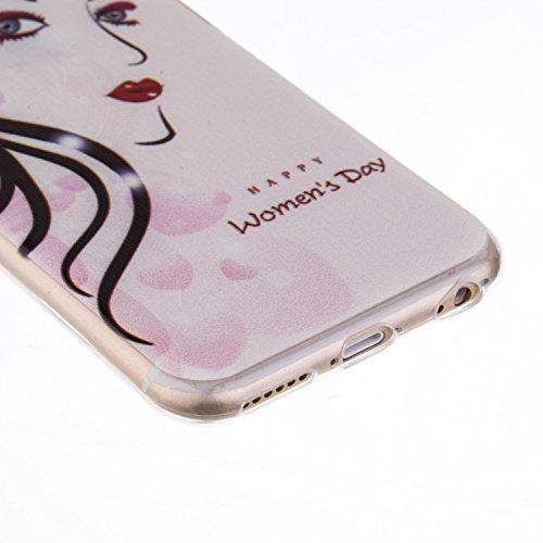 iPhone 6S Plus Hülle, iPhone 6 Plus Hülle, SainCat Silikon Hülle Tasche Handyhülle [Kratzfeste, Scratch-Resistant] TPU Bumper Case Weiches Gel Cover Schutzhülle Crystal Kirstall Clear Case Durchsichti Vogelfedern