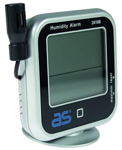 as - Schwabe Hygrometer, digitales Feuchtigkeitsmessgerät mit Thermometer, Messen von Temperatur, relativer Luftfeuchtigkeit und Taupunkt, 1 Stück, 24106