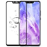 FASHIONISTA Full Glue Huawei Nova 3i Full Coverage Tempered Glass, Full Edge-to-Edge Screen Protector-Black (Pack of 1)