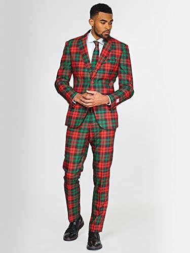 Opposuits Weihnachtsanzüge für Herren - Tartan - Besteht aus Sakko, Hose und Krawatte - EU 48 (Am Besten Gekleidet Kostüm)