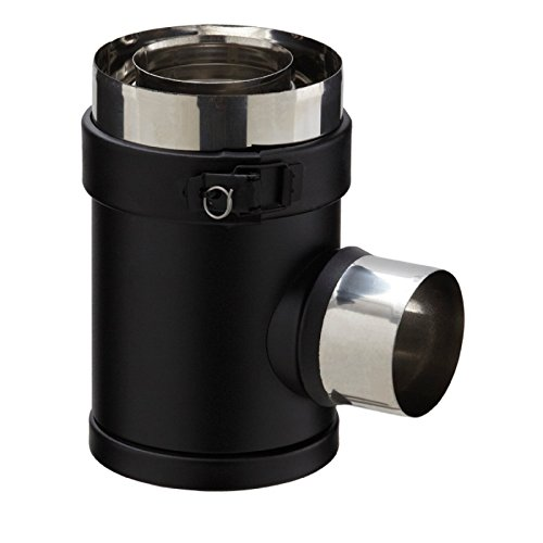 Té PGI , diamètre 80/130 mm , noir graphite (RAL 9030) Réf. TE 80/130 PGI / 37080750