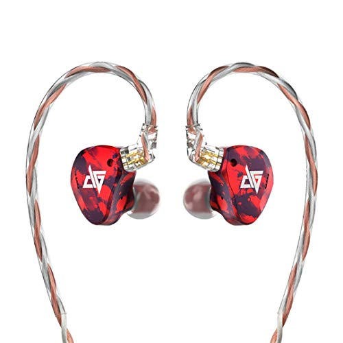 AuGlamour RT-3 2BA + 1DD Kabelgebundene rauschunterdrückung In-Ear-Headset,HiFi-Stereo-Heavy-Bass,Aluminium-Magnesium-Legierung Shell,0.78 2-poliges austauschbares Kabel,für iPhone Android-5 -