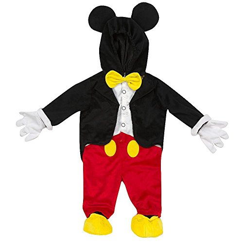 Disney Mickey Mouse Maus Baby Kinder Halloween Fasching Karneval Deluxe Kostüm Overall (62/68)