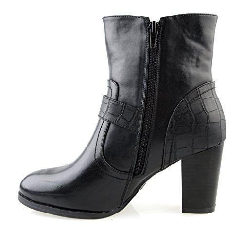 Eyekepper Chaussure cuir Synthetique / chaussures classique femme a talon Noir