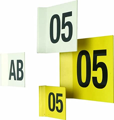 Magnetic Aisle Identifiers Safety Sign 100 x 100mm Yellow