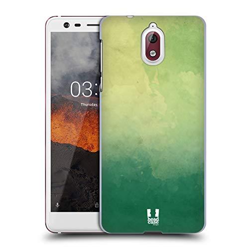 Head Case Designs Grün Aquarell Ombre Ruckseite Hülle für Nokia 3.1