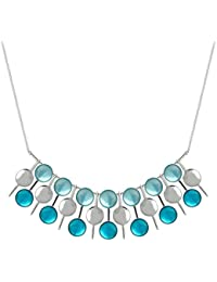Skalli - Collier court - Métal - Smarties - 43 cm à 48 cm - DO07 Azur