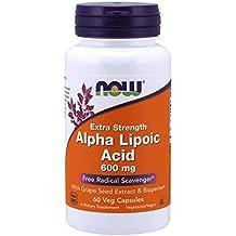 Now Foods - Ácido alfa lipoico 600 mg - 60 cápsulas