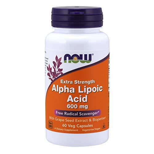 Now Foods Alpha Liponsäure (Alpha Liponic Acid) Vegetarisch Vegan, 600mg, 60 Kapseln