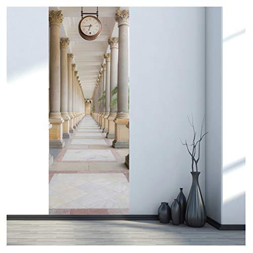 (Kuke Türtapete Selbstklebend Wasserdicht PVC Abnehmbar Türpanel - Türposter Türaufkleber für Wohnzimmer, Schlafzimmer Tür Dekoration)