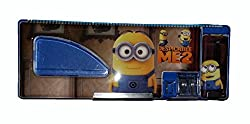 Wise Guys Minions Print Pencil Box Case with Sharpener for kids - Blue 2