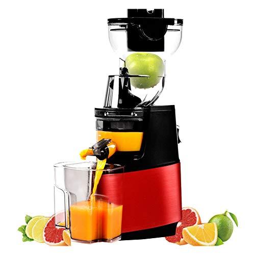 HYYBZ Extractor de Zumos, Licuadora Frutas Verduras, Boca Ancha de 90MM, 304 Colador de Acero Inoxidable 250W 48 RPM, fácil de Limpiar, para Frutas y Verduras