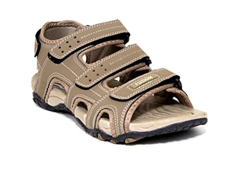 Fuzion Men's Brown Sandal - 7 UK  available at amazon for Rs.498