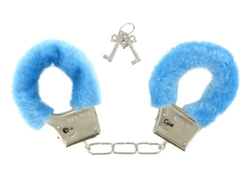 Bunte Handschellen Fasching Karneval alle Farben, farbe wählen:blau
