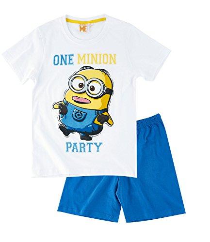 Minions Despicable Me Chicos Pijama mangas cortas - Blanco Minions