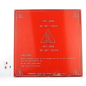Elecfreaks PCB chauffée Mk2A chaleur Bed plaque chauffante pendant RepRap imprimante 3D - Rouge + blanc